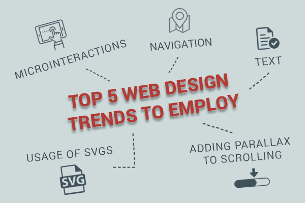5 Essential web Design Trends to employ